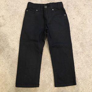 Boys Black straight leg jeans